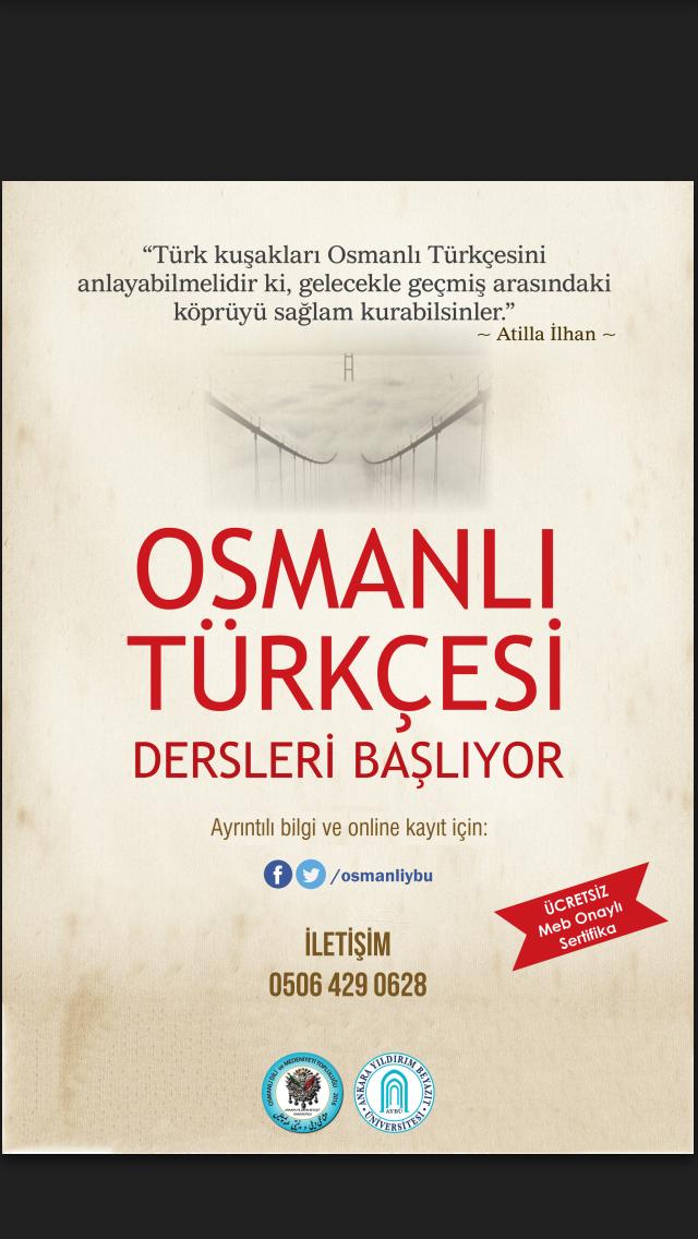 Osmanlı Türkçesi Kursu