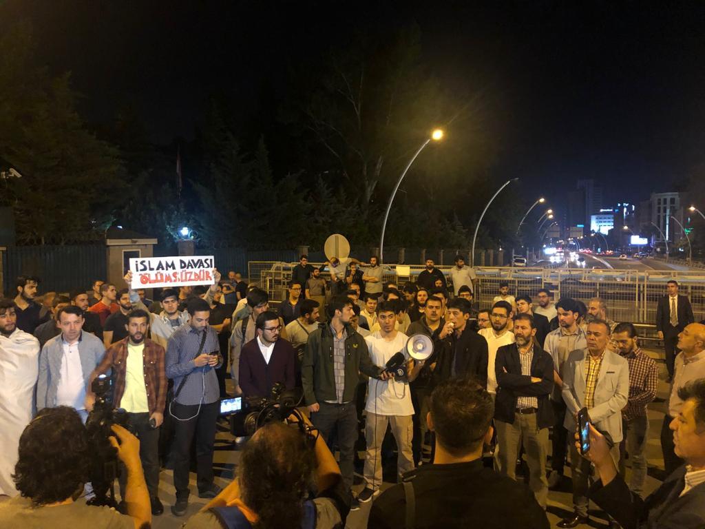 Mısır Büyükelçiliğinde Darbecileri Protesto
